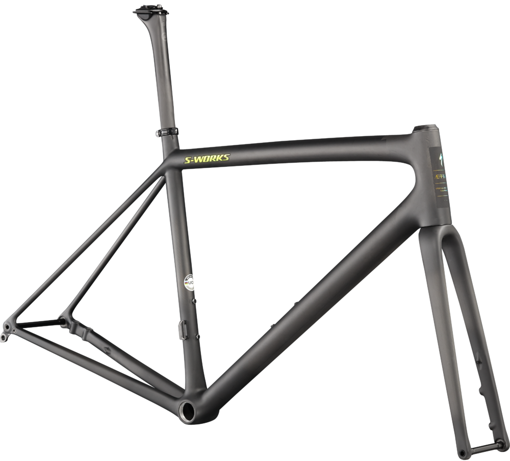 Specialized S-Works Aethos Frameset Satin Carbon/Jet Fuel 58
